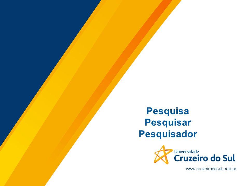 www.cruzeirodosul.edu.br Pesquisa Pesquisar Pesquisador