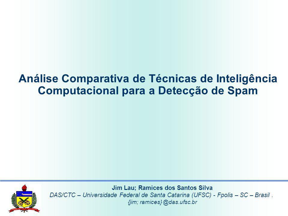Agenda Introdução Justificativa Objetivo Detecção de Spam Técnicas de Inteligência Comparação de Resultados Conclusão