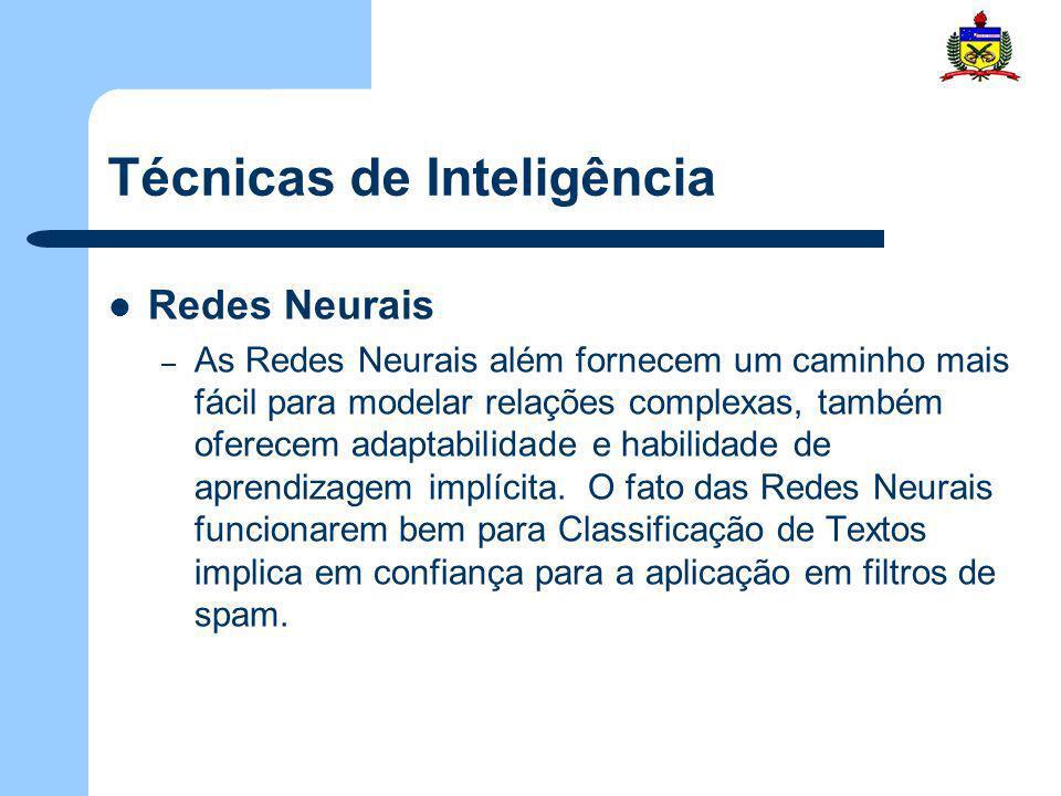 Técnicas de Inteligência Redes Neurais – As Redes Neurais além fornecem um caminho mais fácil para modelar relações complexas, também oferecem adaptab