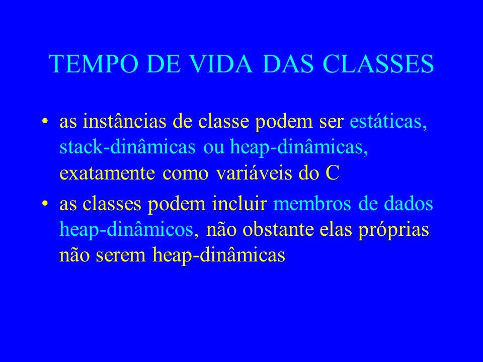 FUNÇÕES-MEMBRO as funções definidas em uma classe são as funções-membro as funções-membro são compartilhadas por todas as instâncias de classe mas: ca