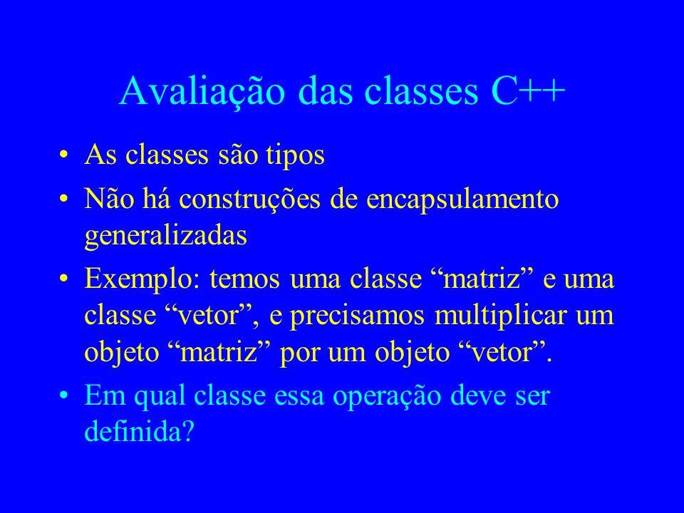 Exemplo (continuação)...int top { return ( ptr_pilha[top_ptr] ); } int empty { return ( top_ptr = = -1 ); } } \\** fim da classe pilha Código no clien