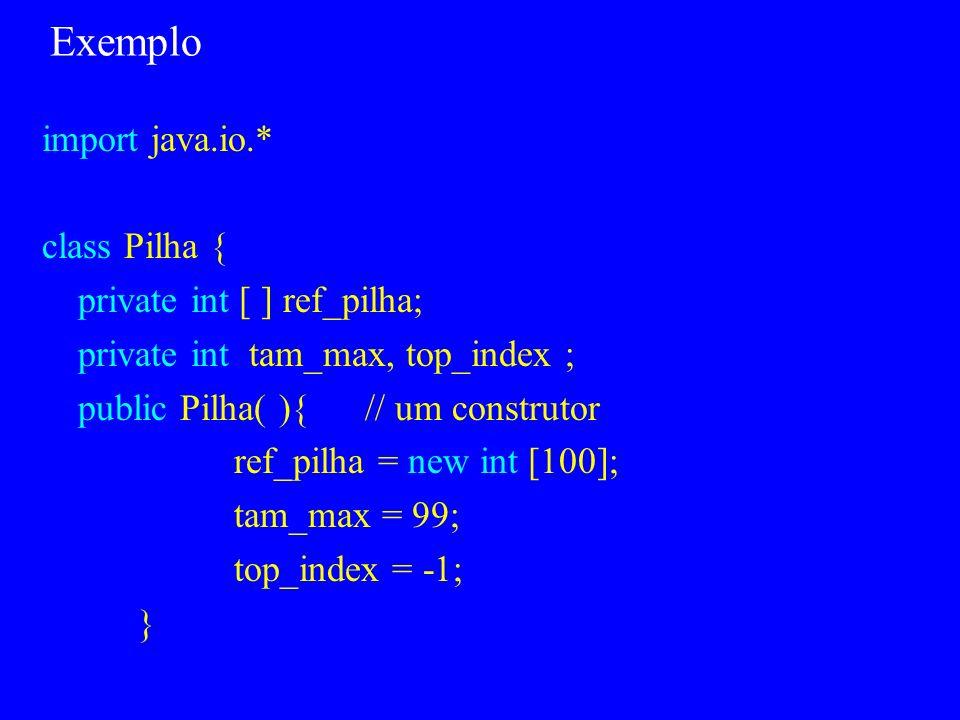 Pacotes Java Em C++ as classes são a única construção de encapsulamento Java inclui uma construção adicional: os pacotes Pacotes podem conter mais de