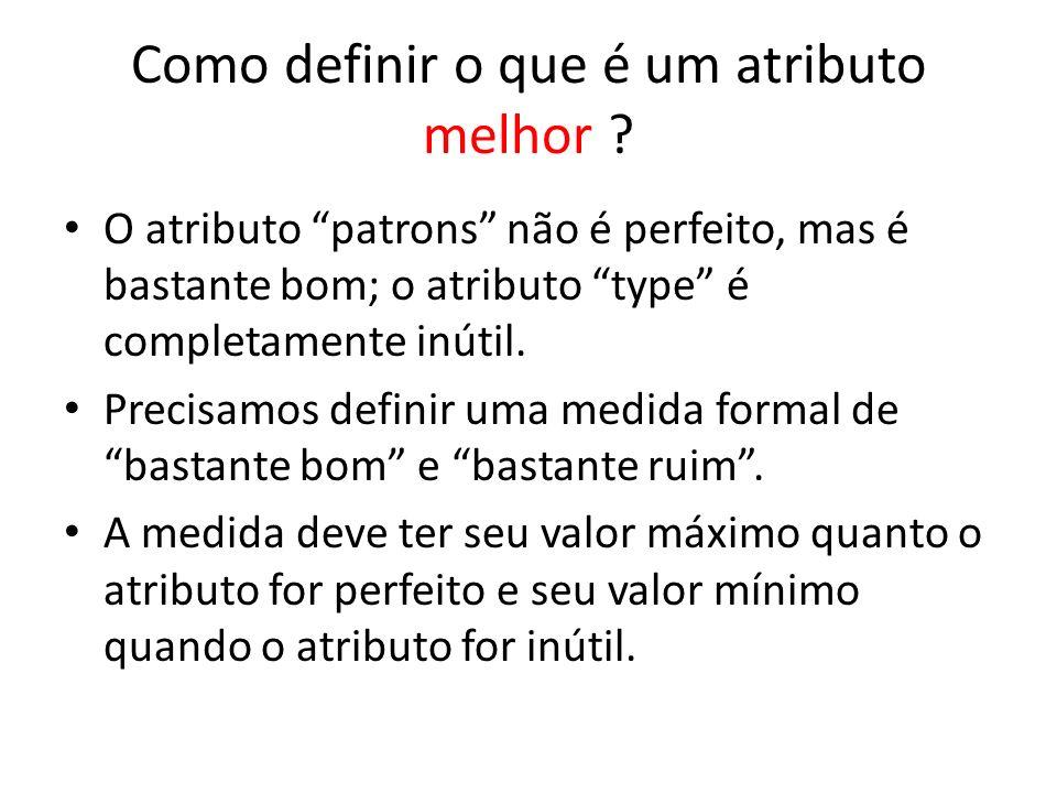 Como definir o que é um atributo melhor ? O atributo patrons não é perfeito, mas é bastante bom; o atributo type é completamente inútil. Precisamos de