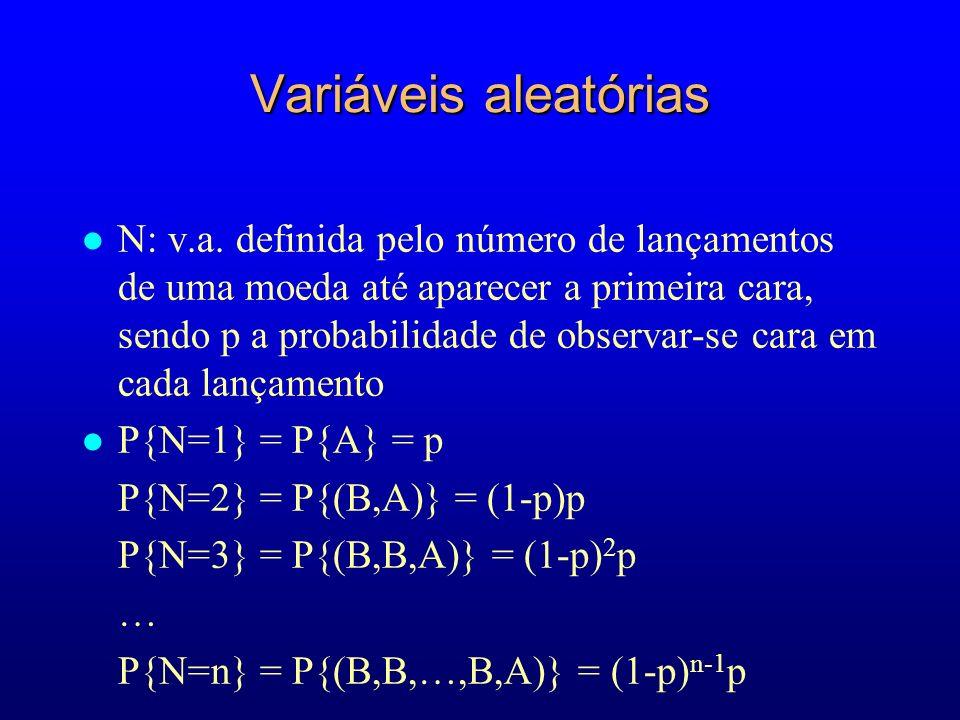 Variáveis aleatórias l N: v.a.