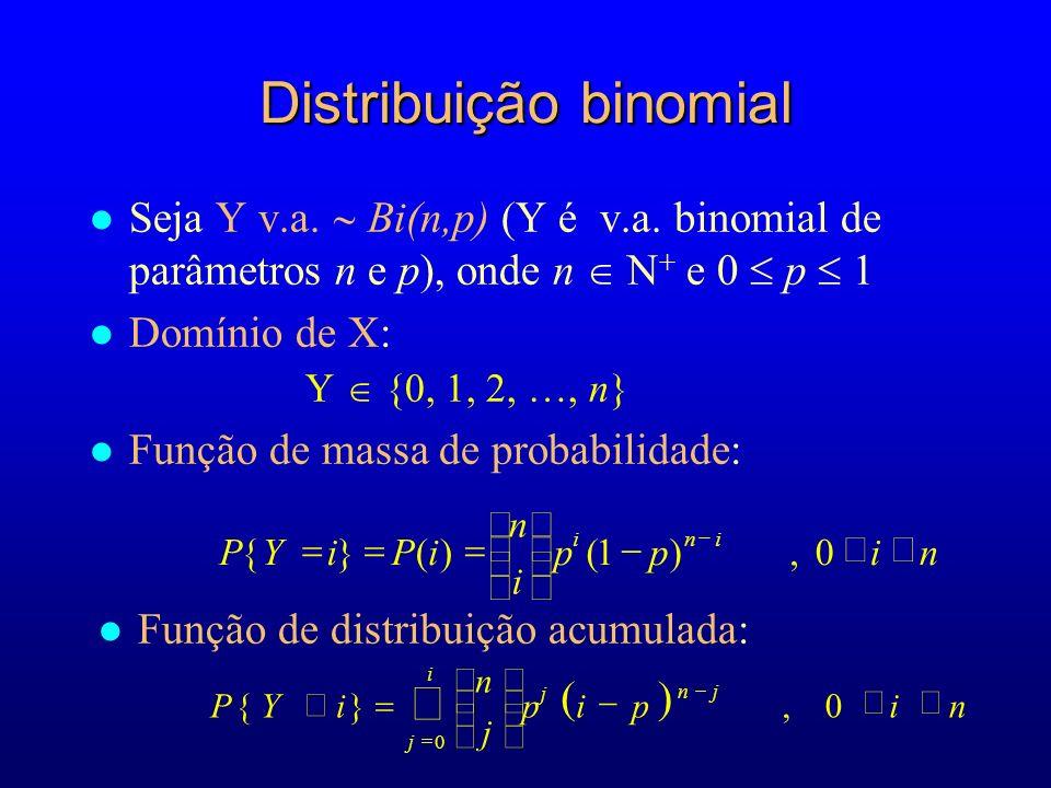 l Seja Y v.a.Bi(n,p) (Y é v.a.