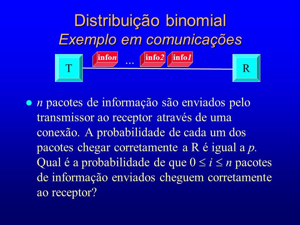 l n pacotes de informação são enviados pelo transmissor ao receptor através de uma conexão.