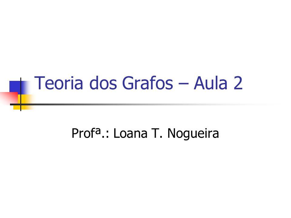 Teoria dos Grafos – Aula 2 Profª.: Loana T. Nogueira