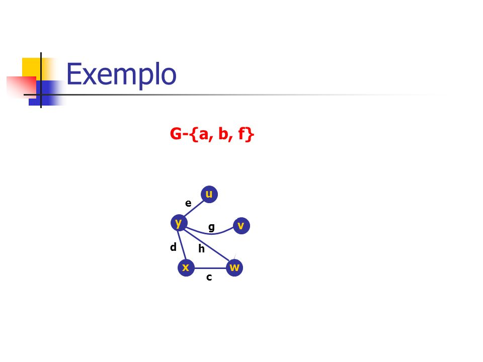 Exemplo G-{a, b, f} y x e c d g h v w u