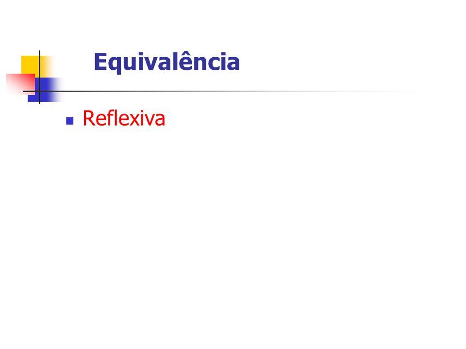 Reflexiva Equivalência