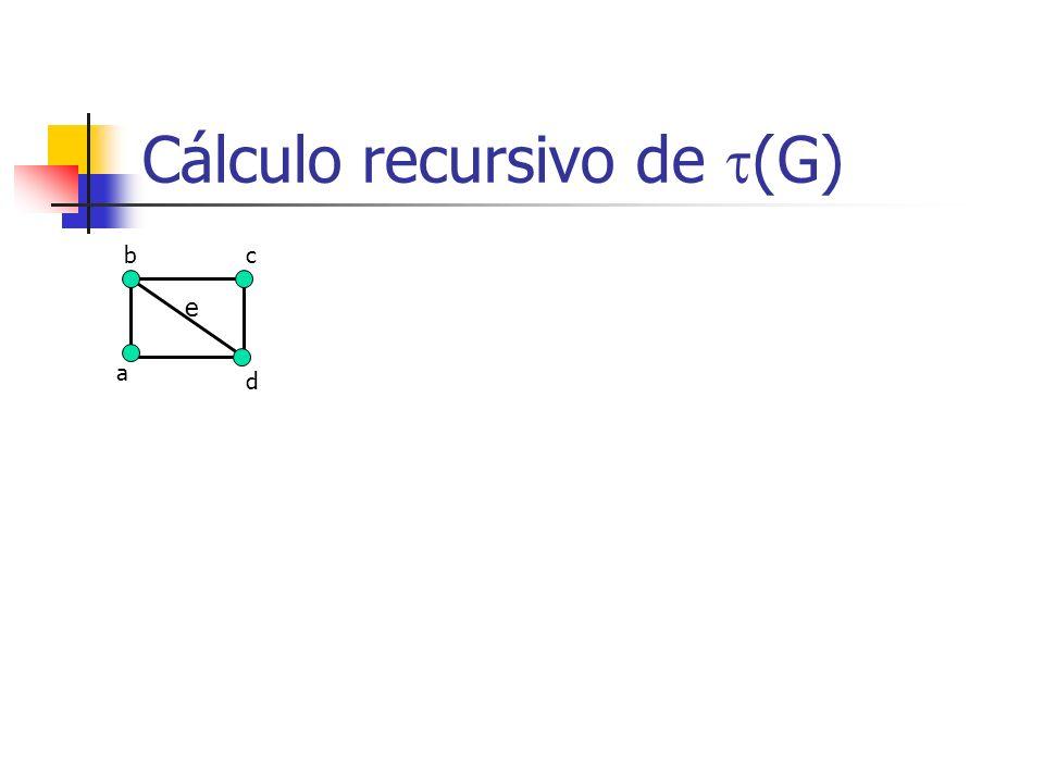 Cálculo recursivo de (G) b a c d e