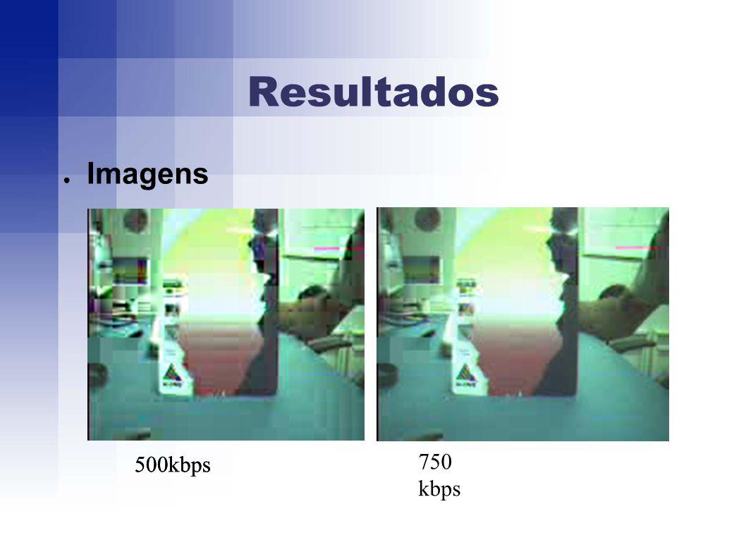 Resultados Imagens 500kbps 750 kbps