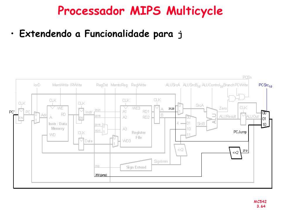 MC542 3.64 Processador MIPS Multicycle Extendendo a Funcionalidade para j