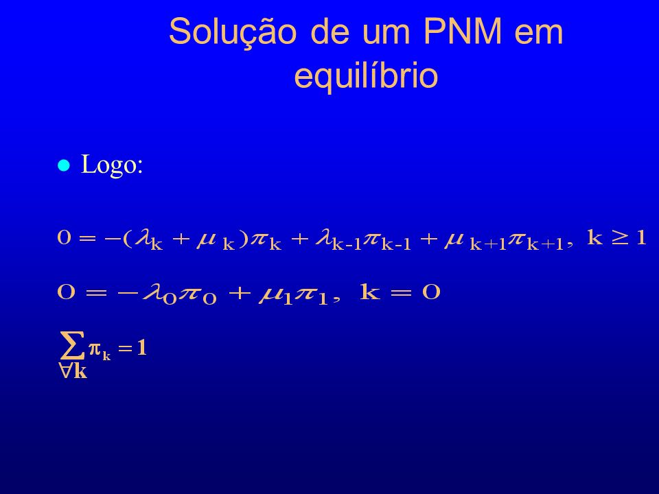 Solução de um PNM em equilíbrio l Logo: