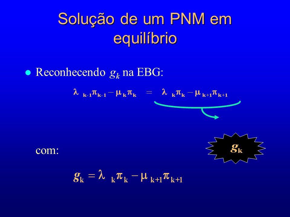 l Reconhecendo g k na EBG: com: Solução de um PNM em equilíbrio