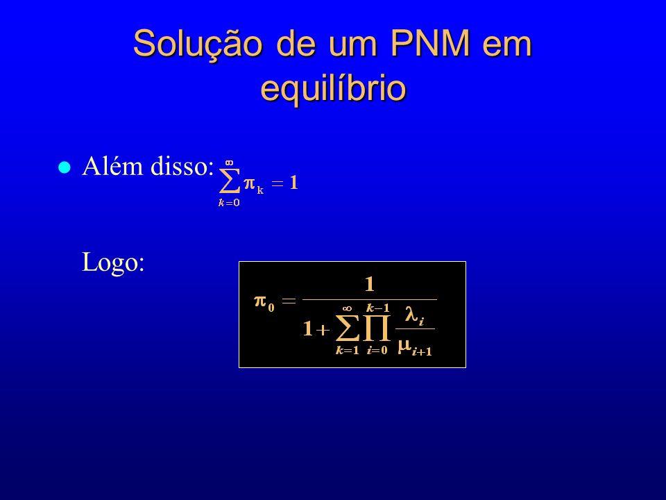 l Além disso: Logo: Solução de um PNM em equilíbrio
