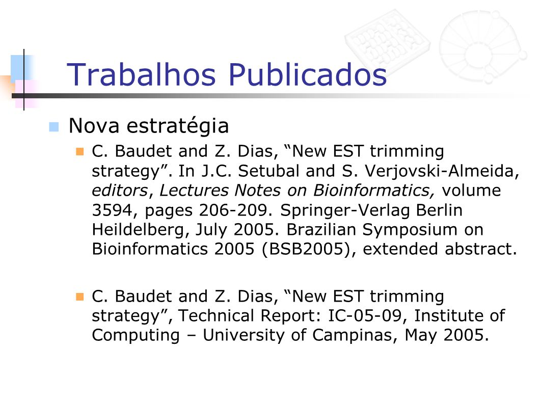 Trabalhos Publicados Derrapagem C.Baudet and Z.