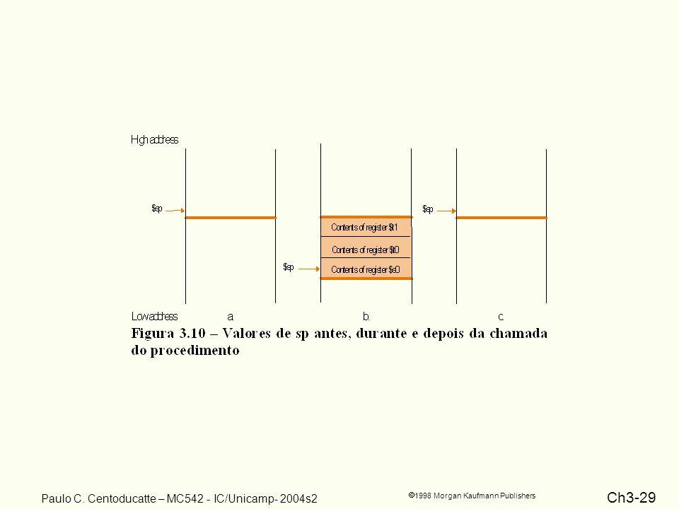 Ch3-29 1998 Morgan Kaufmann Publishers Paulo C. Centoducatte – MC542 - IC/Unicamp- 2004s2