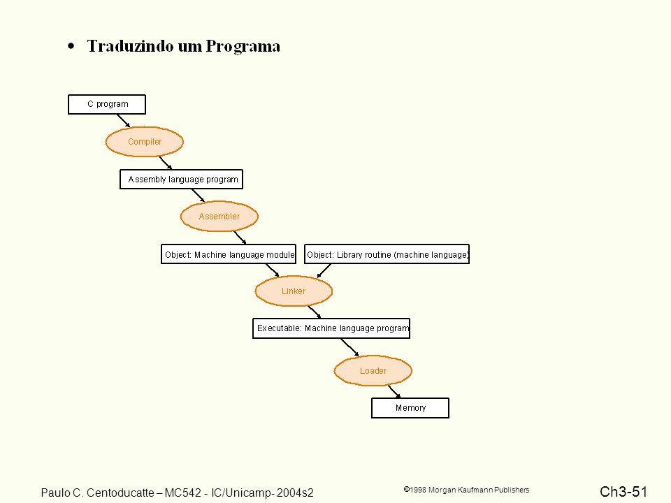 Ch3-51 1998 Morgan Kaufmann Publishers Paulo C. Centoducatte – MC542 - IC/Unicamp- 2004s2