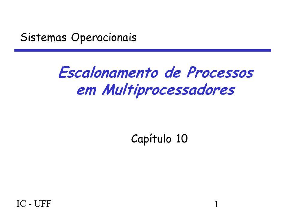 IC - UFF 1 Escalonamento de Processos em Multiprocessadores Capítulo 10 Sistemas Operacionais