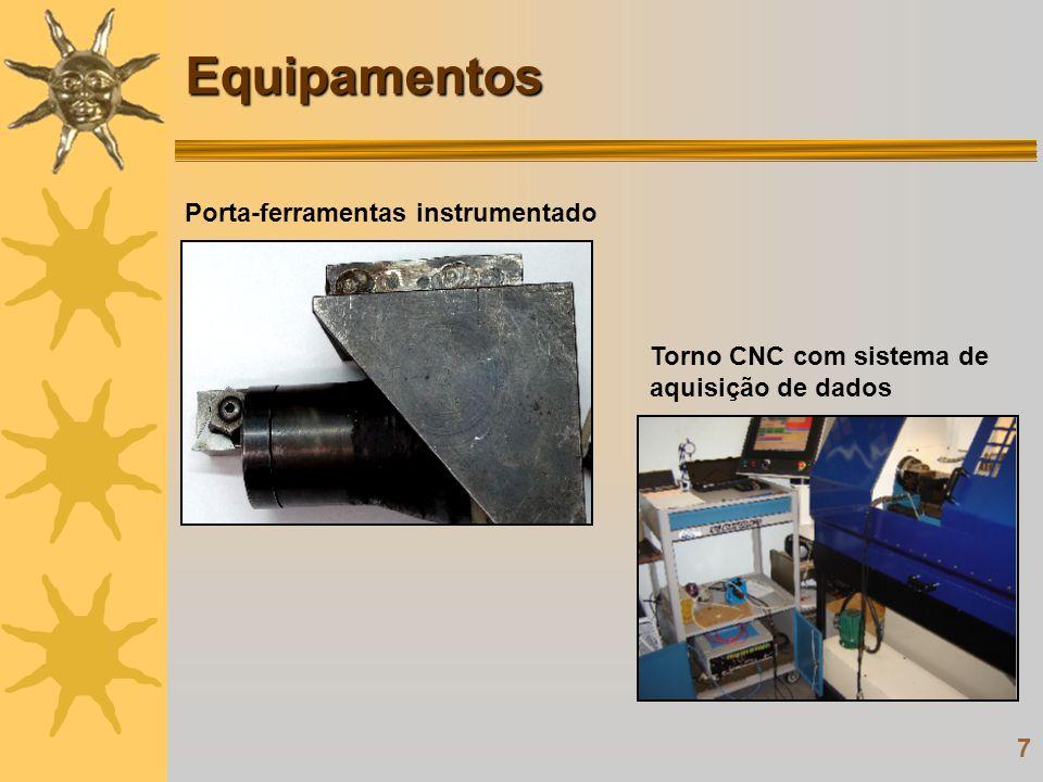 7 Porta-ferramentas instrumentado Torno CNC com sistema de aquisição de dadosEquipamentos