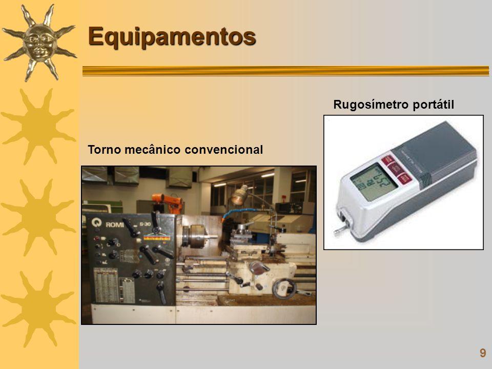 9 Equipamentos Rugosímetro portátil Torno mecânico convencional