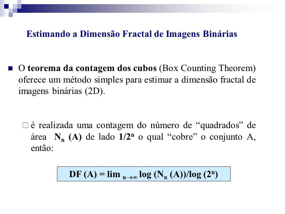 Estimando a Dimensão Fractal de Imagens Binárias O teorema da contagem dos cubos (Box Counting Theorem) oferece um método simples para estimar a dimen