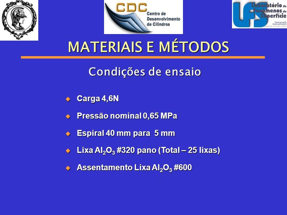 Carga 4,6N Carga 4,6N Pressão nominal 0,65 MPa Pressão nominal 0,65 MPa Espiral 40 mm para 5 mm Espiral 40 mm para 5 mm Lixa Al 2 O 3 #320 pano (Total