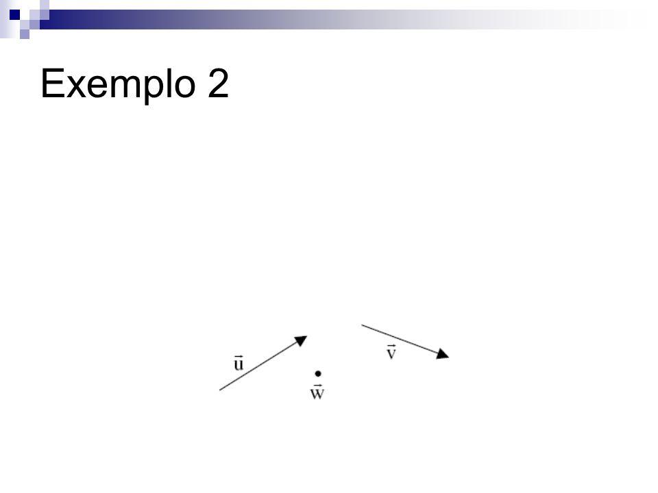 Exemplo 2)AF =1AB+ 0AC+ 1AE, daí AF = (1,0,1).
