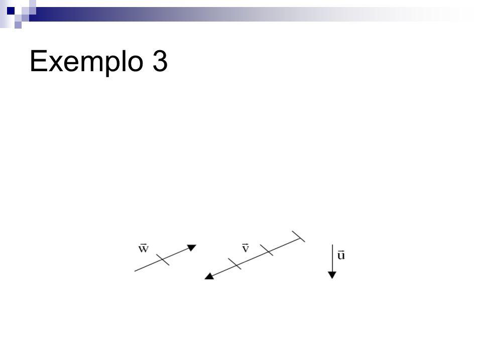 Observando a figura, podemos escrever: w = -2/3v + 0u