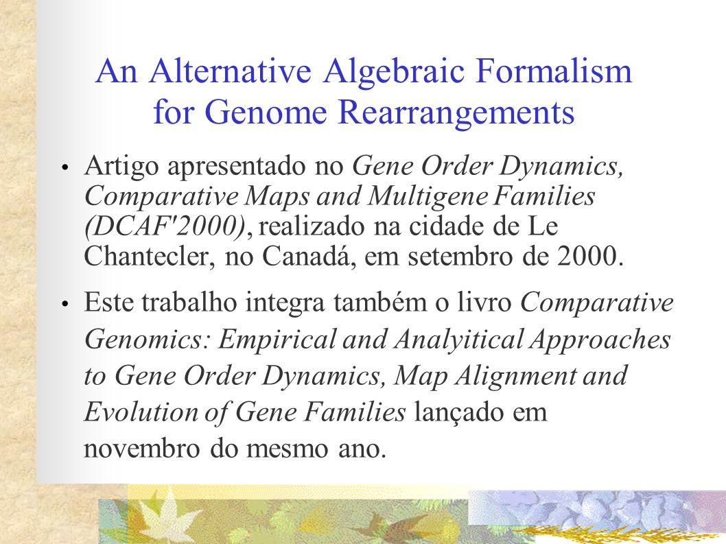 An Alternative Algebraic Formalism for Genome Rearrangements Artigo apresentado no Gene Order Dynamics, Comparative Maps and Multigene Families (DCAF'