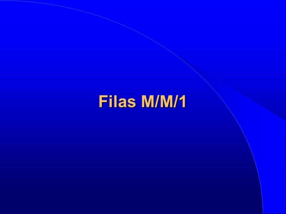 l Cadeia de Markov M/M/m 01m m – 1m + 1 (m–1) m m m l Equações: Neste caso:
