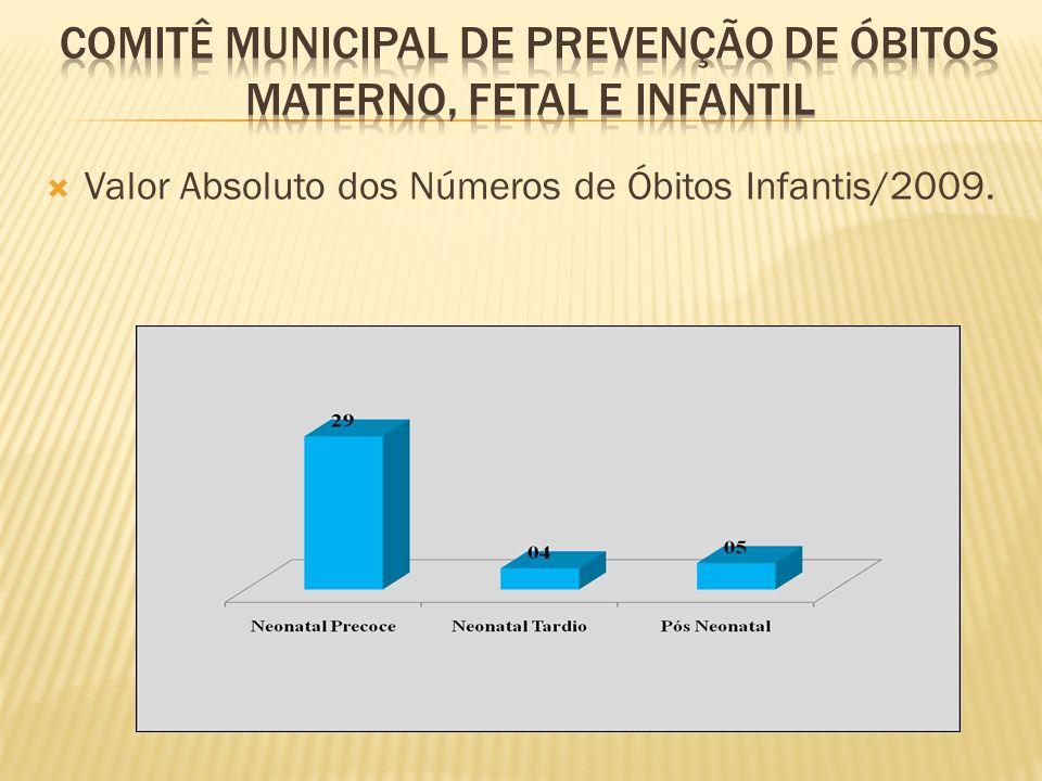 Valor Absoluto dos Números de Óbitos Infantis/2009.