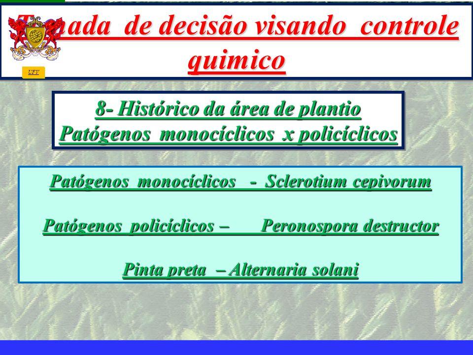 mzuppi.cursos@gmail.com Educação e Treinamento do Homem do Campo Tomada de decisão visando controle quimico 8- Histórico da área de plantio Patógenos