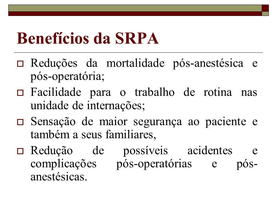 Reduções da mortalidade pós-anestésica e pós-operatória; Facilidade para o trabalho de rotina nas unidade de internações; Sensação de maior segurança