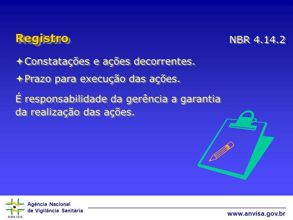 Agência Nacional de Vigilância Sanitária www.anvisa.gov.br Constatações e ações decorrentes. Prazo para execução das ações. Constatações e ações decor