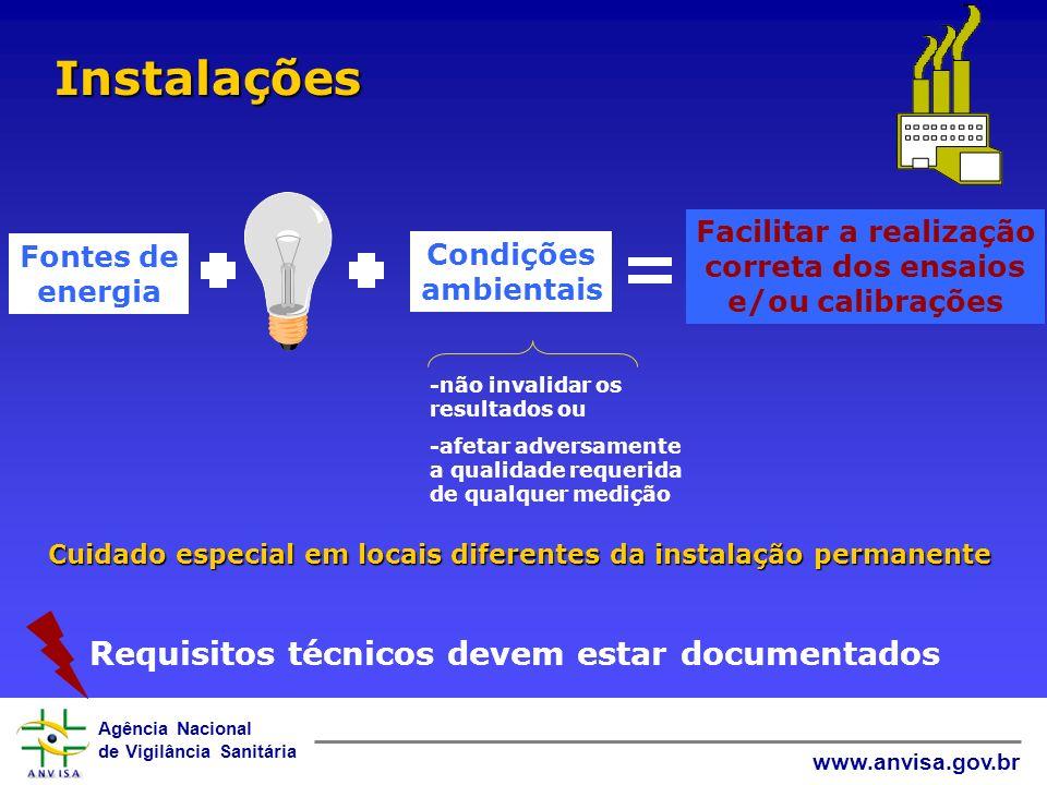 Agência Nacional de Vigilância Sanitária www.anvisa.gov.br -não invalidar os resultados ou -afetar adversamente a qualidade requerida de qualquer medi