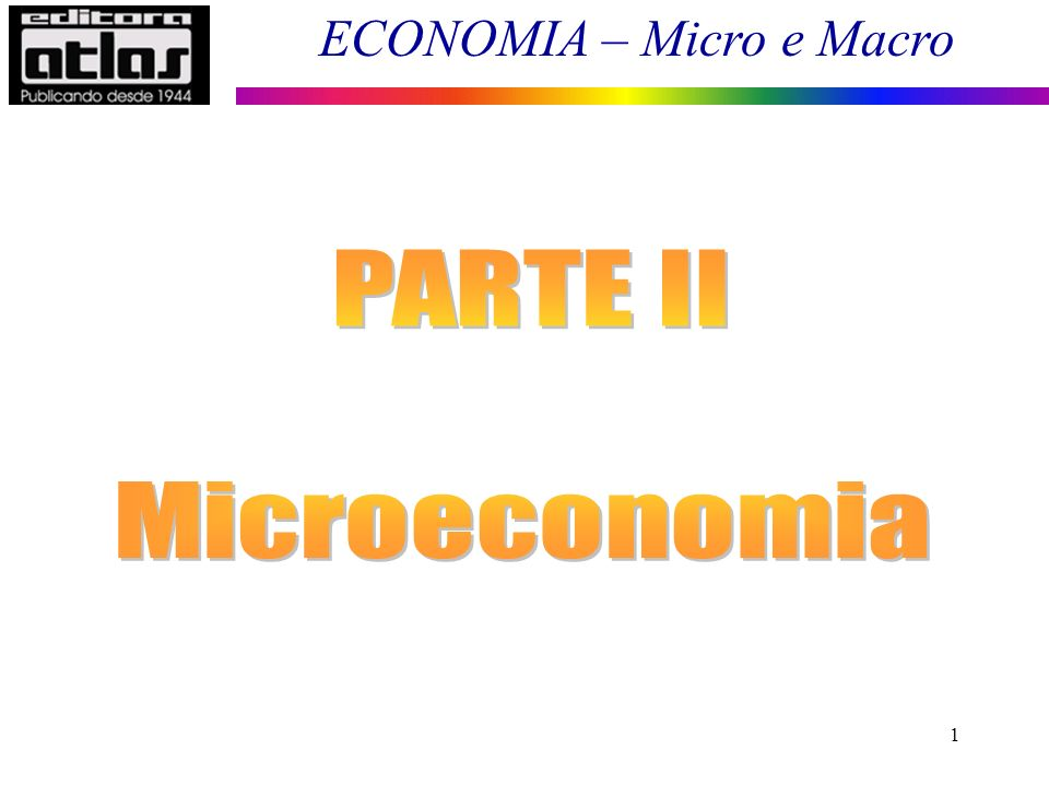 ECONOMIA – Micro e Macro 22 No longo prazo não existem custos fixos, todos os custos são variáveis, sendo assim, um agente econômico: 1.Opera no curto prazo e; 2.Planeja no longo prazo.