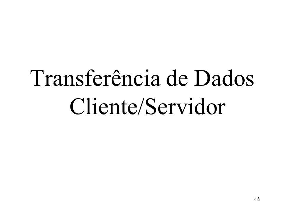Transferência de Dados Cliente/Servidor 48