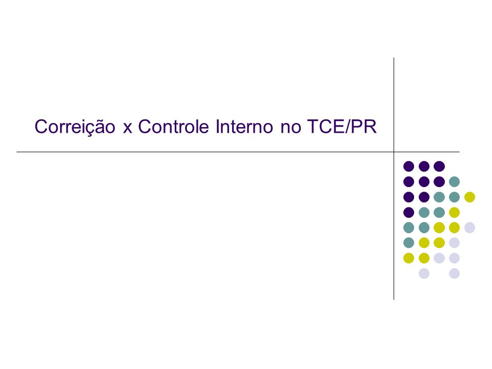 Correição x Controle Interno no TCE/PR