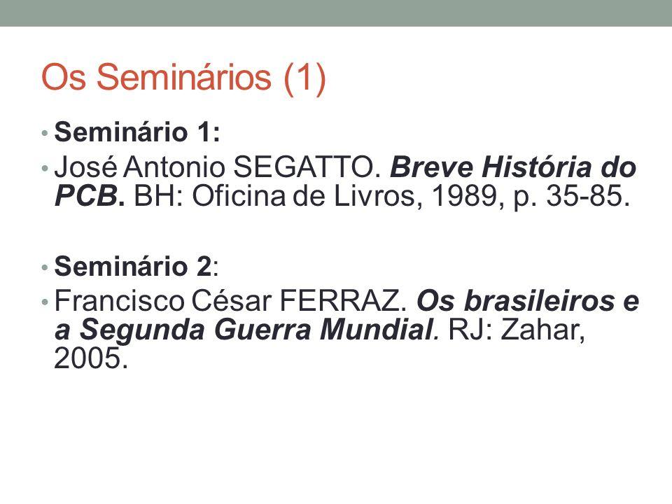 Os Seminários (2) Seminário 3: Maria Luiza Tucci CARNEIRO.