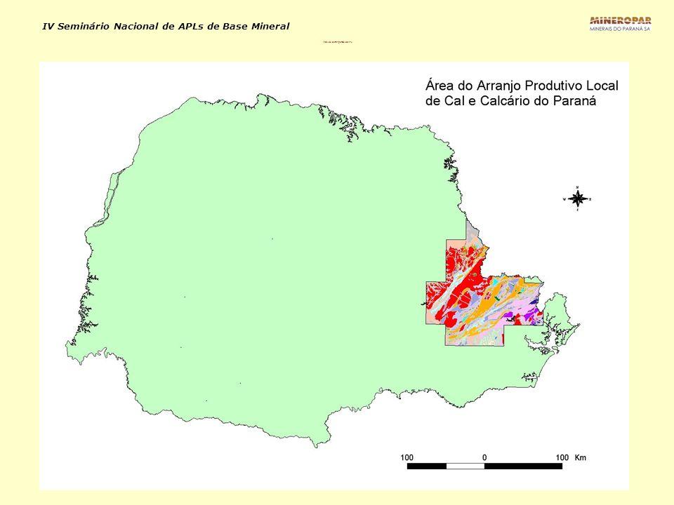 IV Seminário Nacional de APLs de Base Mineral Área de abrangência do APL
