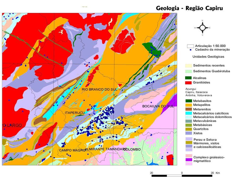 IV Seminário Nacional de APLs de Base Mineral Geologia Capiru