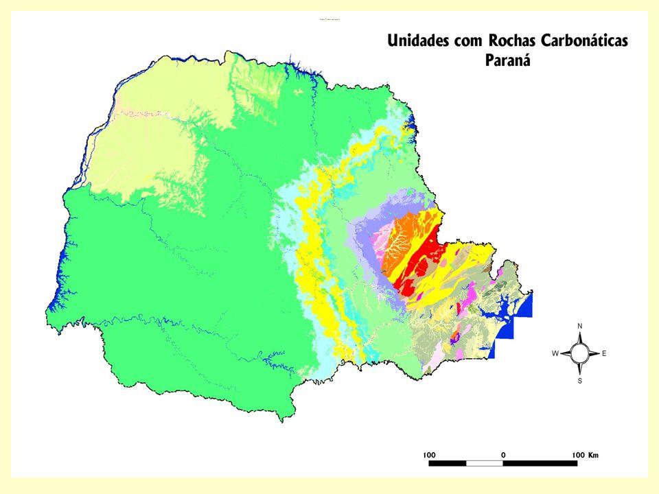 IV Seminário Nacional de APLs de Base Mineral Mapa Parana carbonatos