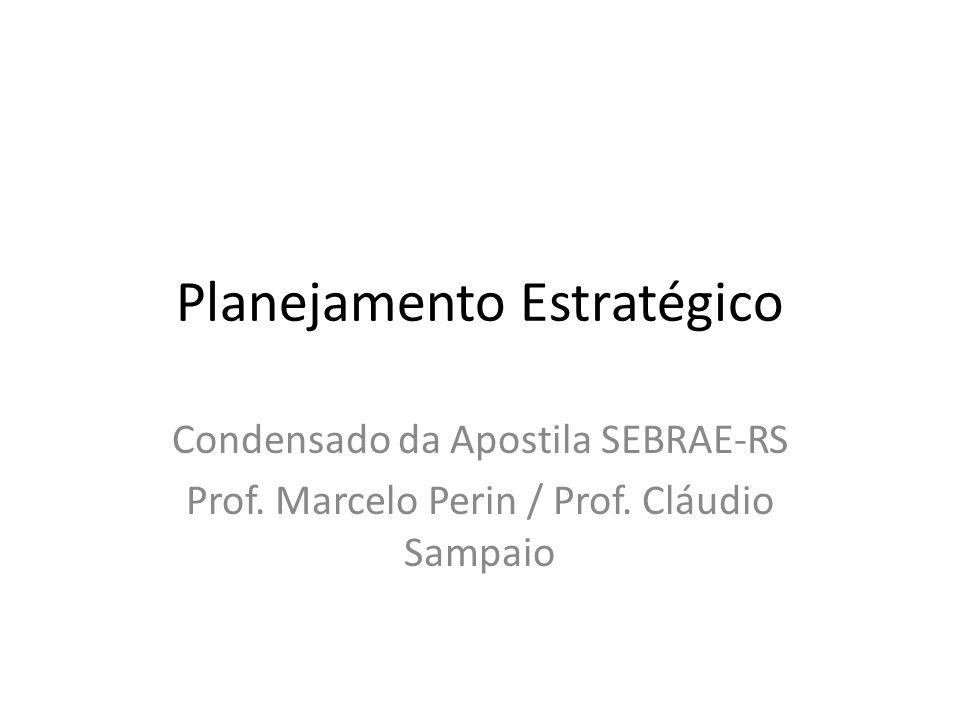 Planejamento Estratégico Condensado da Apostila SEBRAE-RS Prof. Marcelo Perin / Prof. Cláudio Sampaio
