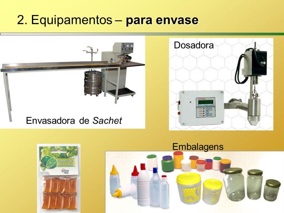 para envase 2. Equipamentos – para envase Dosadora Embalagens Envasadora de Sachet