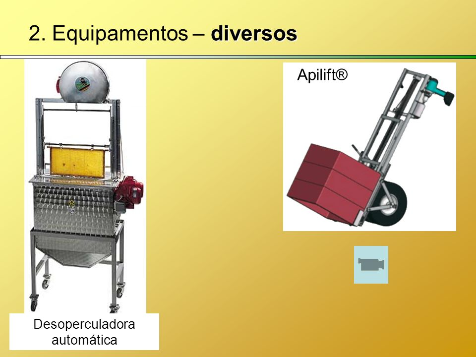 diversos 2. Equipamentos – diversos Apilift® Desoperculadora automática