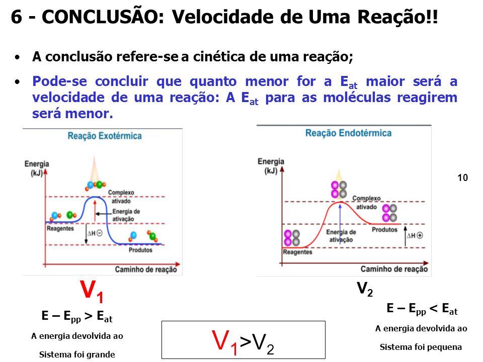 10 6 - CONCLUSÃO: Velocidade de Uma Reação!.