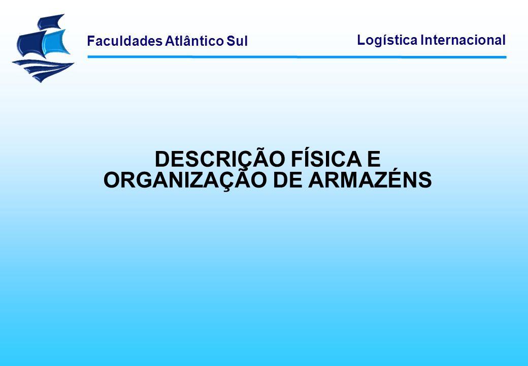 Faculdades Atlântico Sul Logística Internacional Existem diferentes soluções de armazenagem que permitem resolver determinados problemas e facilitar algumas das operações.
