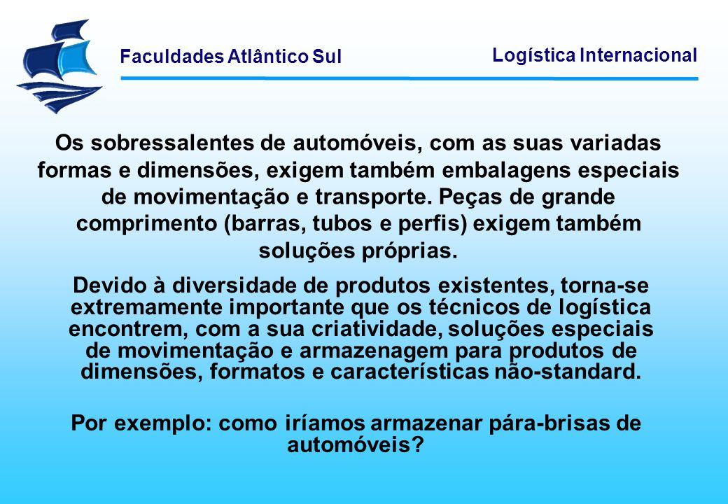 Faculdades Atlântico Sul Logística Internacional Os sobressalentes de automóveis, com as suas variadas formas e dimensões, exigem também embalagens es