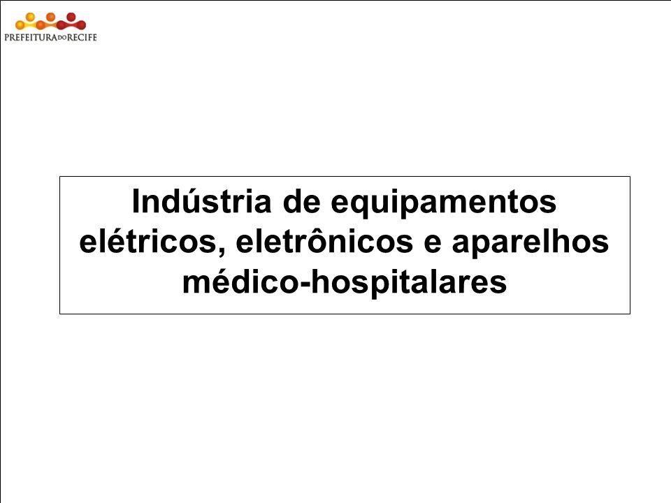 Estudo Prospectivo Inovações Tecnológicas e Cadeias Produtivas Selecionadas Indústria de equipamentos elétricos, eletrônicos e aparelhos médico-hospit